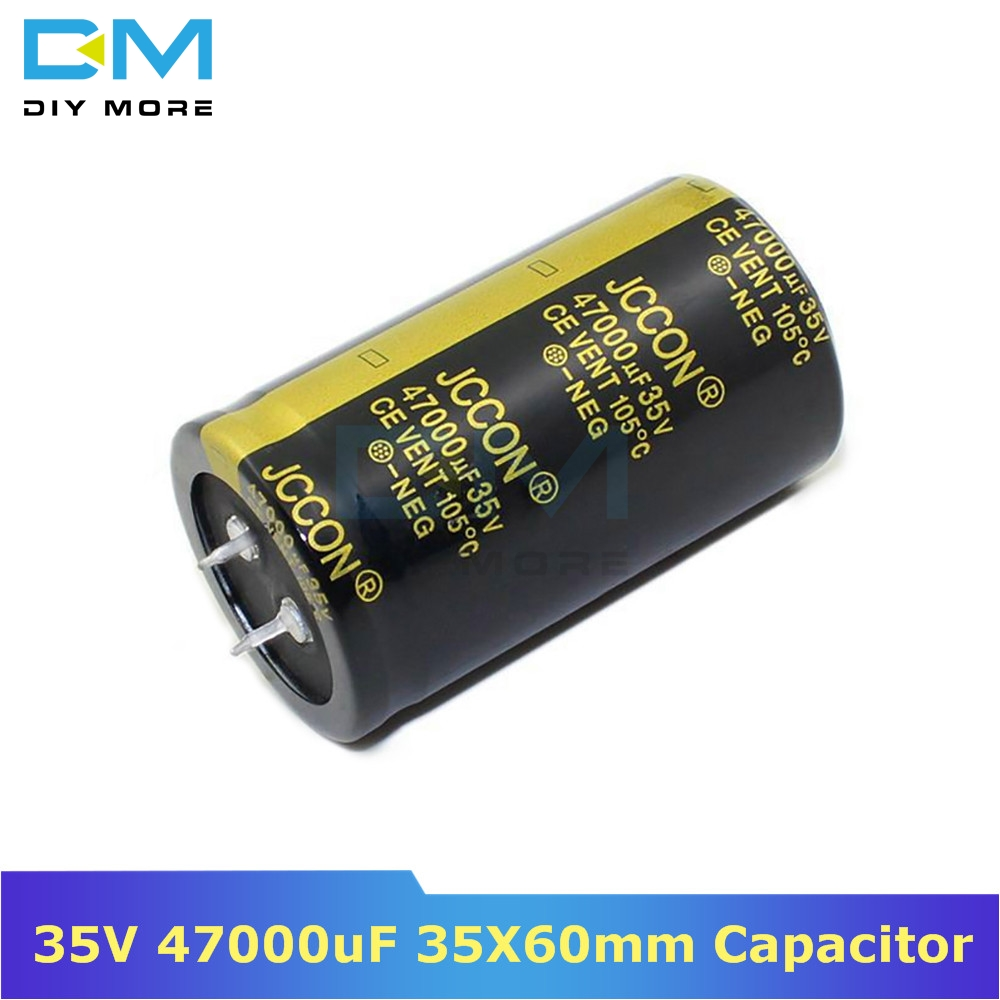 35V 47000uF 35X60mm 35x60 Aluminum Electrolytic Capacitor High Frequency Low Impedance Through Hole Capacitor 35*60mm Diymore