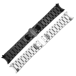 Image 2 - 23 مللي متر الفولاذ المقاوم للصدأ الأسود المعادن سوار استبدال الصلب حزام الرجال معصمه ل lumox
