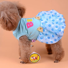 Polka Dot Cute Small Dog Clothes Princess Dress Tutu Skirt Poodle Yorkshire Terrier Yorkies Chep Clothing Red Pink Blue XXS - L(China)