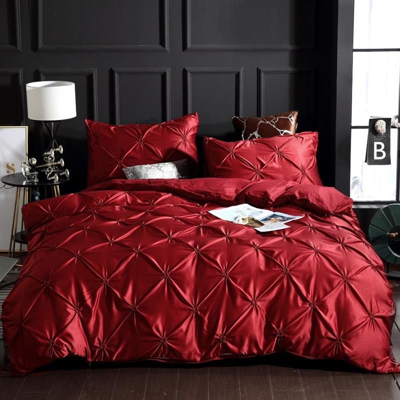 Image 5 - LOVINSUNSHINE Bedding Set Luxury US King Size Silk Duvet Cover Set Queen Bed Comforter Sets AC05#-in Bedding Sets from Home & Garden