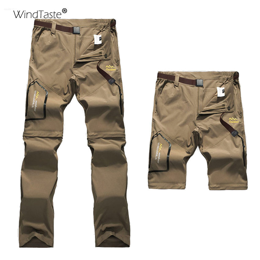 Wind Taste 6XL Women Summer Removable Shorts Outdoor Camping Pants Hiking Trekking Fishing Elastic Sports Trousers Female KB112