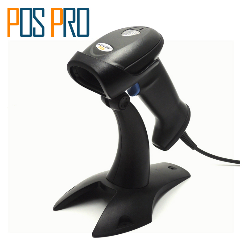 I2DBC019 Handheld Wired 2D QR barcode scanner laser PDF417 code reader with cradle plug and play POS Systems Supermarket/Shop ...