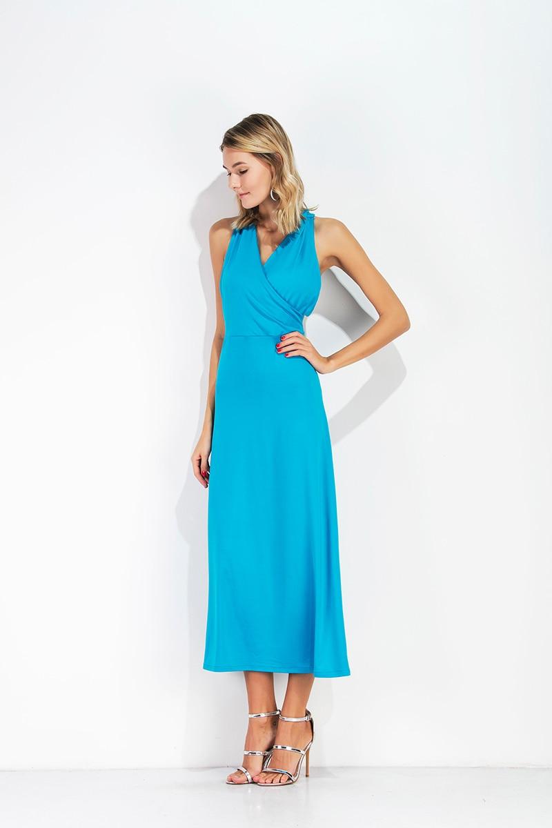 Aliexpress.com : Buy Summer Party Dress Women V Neck Short Sleeve ...