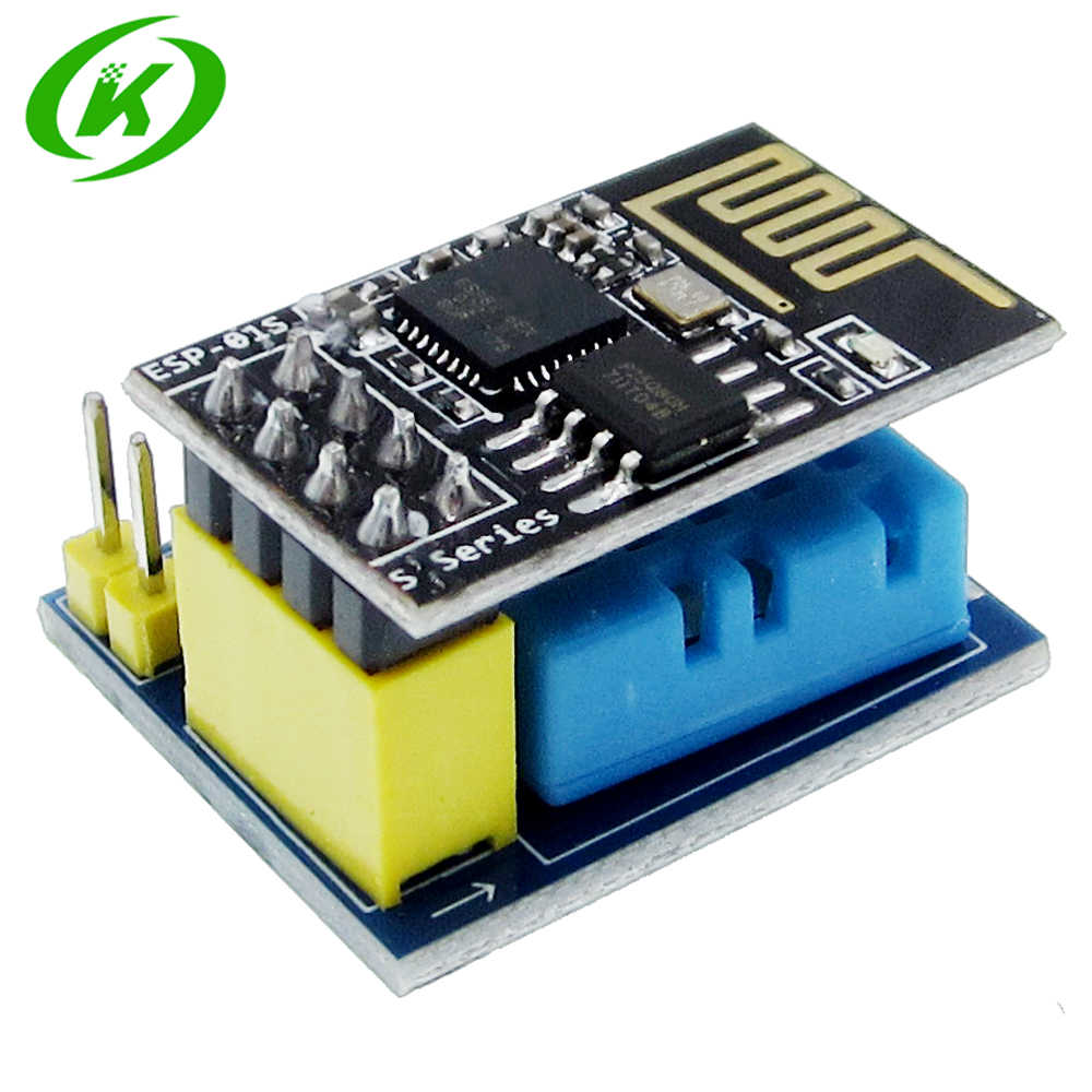 1ชิ้นESP8266 ESP-01 ESP-01S DHT11เซนเซอร์ความชื้นอุณหภูมิโมดูลesp8266 NodeMCUสมาร์ทบ้านIOT (ที่มีESP01)