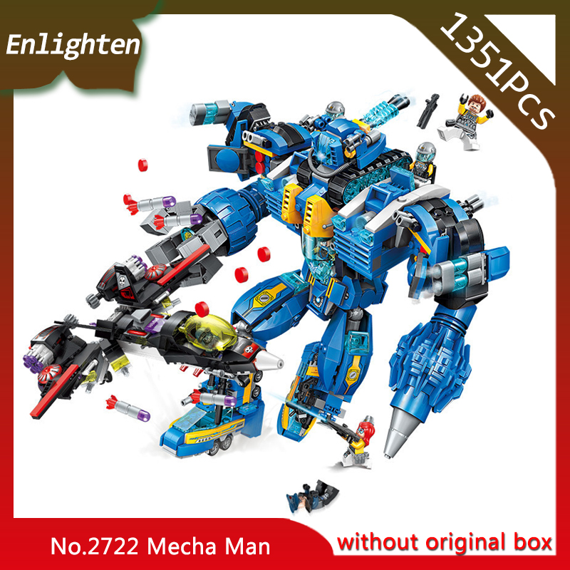 Enlighten 2722 1351pcs High Tech Era Garma Mecha Man Educational Technic Bricks Toy For Boy Gift Compatible Legoings