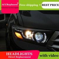 Автомобиль Стайлинг для Toyota Highlander фары 2009 2012 для Highlander светодиодный фар светодиодный drl H7 hid Q5 Би ксеноновые линзы ближнего света