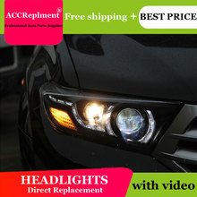 цена на Car Styling For Toyota Highlander headlights 2009-2012 For Highlander LED headlight led drl H7 hid Q5 Bi-Xenon Lens low beam