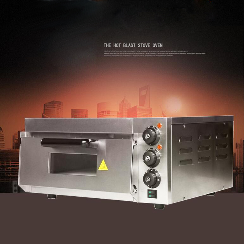 1PC gedun-kx2 220v Hot sale Electric Pizza Oven with Timer For Commercial Use For Making Bread, Cake, Pizza