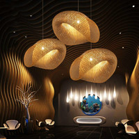 Creative personality rattan bamboo chandelier Southeast Asia style farmhouse club hotel lobby decoration lamps ZP420101