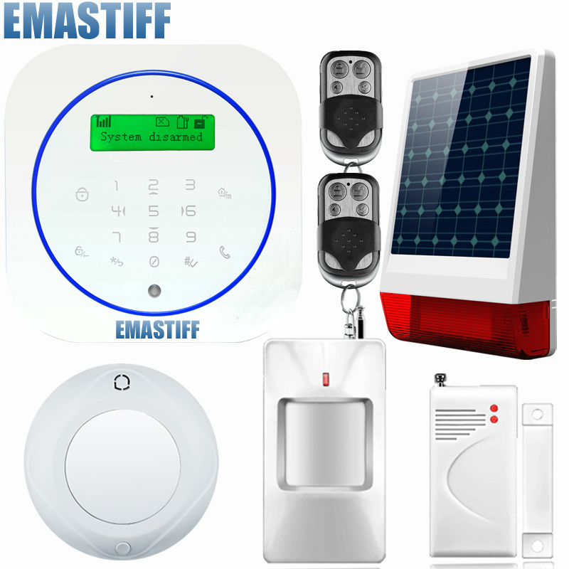 English/Deutsch/Espanol/Italiano/Francais Wired and Wireless LCD Home Security GSM alarm system 850/900/1800/1900MHz 850 900 1800 1900mhz russian english spanishwired and wireless lcd home security gsm alarm system