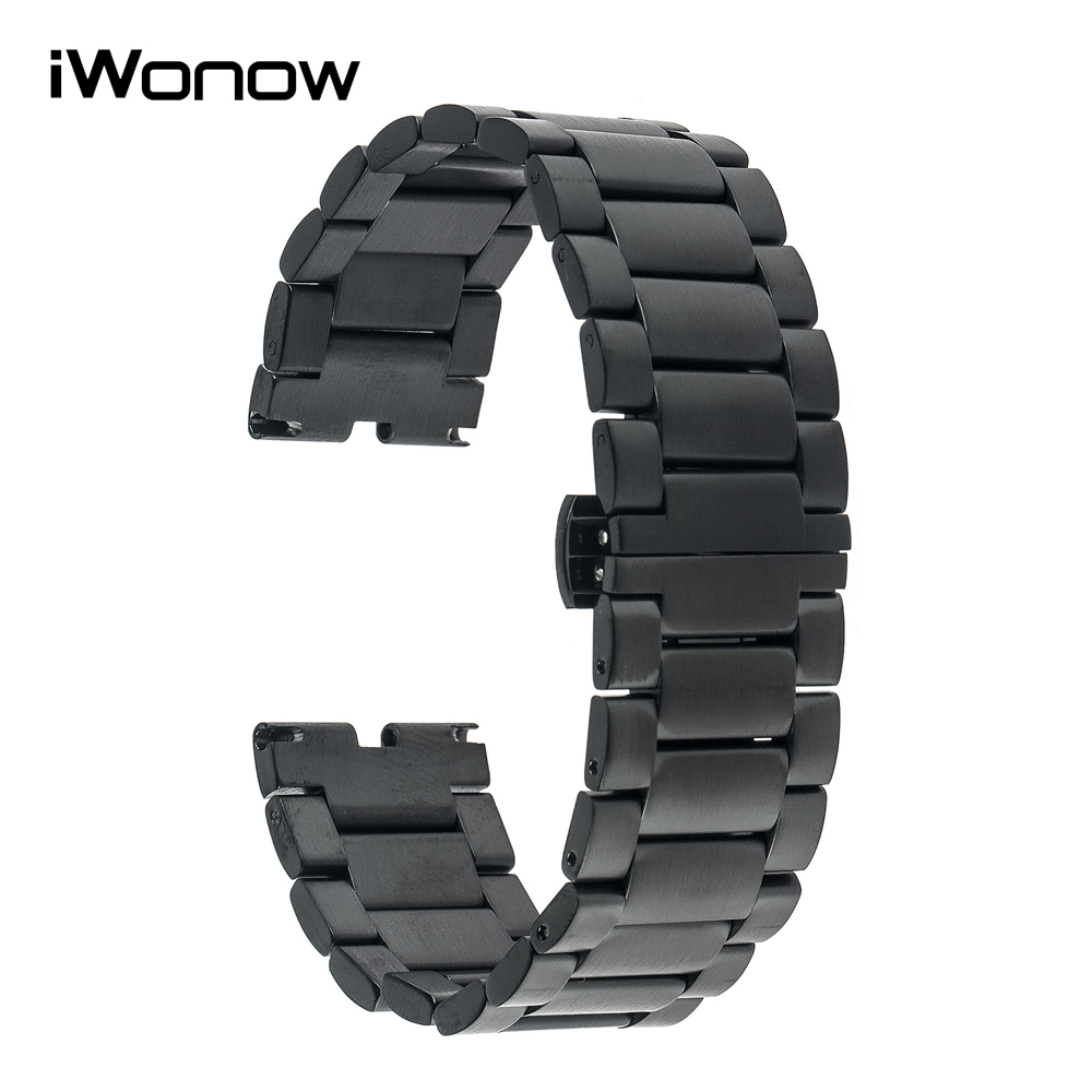 Stainless Steel Watchband Butterfly Clasp Strap for Motorola Moto 360 1 1st Gen 2014 Watch Band Wrist Bracelet Black Gold Silver материнская плата для принтера canon mg5580