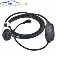 DUOSIDA EVSE 6M 11M 16Amp Type 2mennekes EV chargeur Type 2 EU Schuko véhicules électriques IEC62196 EV câble de charge pour voiture