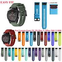 26 мм 22 мм ремешок для наручных часов для наручных gps-часов Garmin Fenix 5X, 5X3 3 HR для Fenix 5X плюс S60 часы, быстросъемный силиконовый легко регулируемый ...