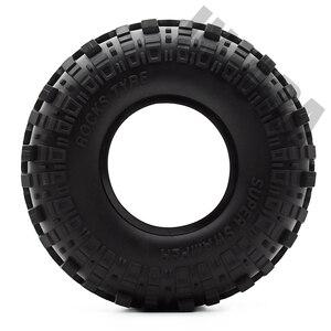 "Image 3 - 4PCS 1.9"" Rubber Tyre / Wheel Tires for 1:10 RC Rock Crawler Axial SCX10 90046 AXI03007 Tamiya CC01 D90 D110"