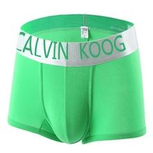 CALVIN KOOD 10pcs hot fashion sexy modal men's underwear boxer mens underwear branded boxers logo Wholesale