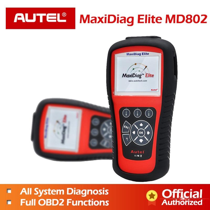 Autel MaxiDiag Elite MD802 OBD2 Scanner Engine Airbag SRS ABS Transmission EPB