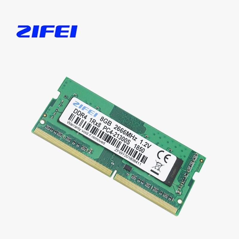 ZIFEI DDR4 ordinateur portable 4 GB 8 GB 16 GB 2133 MHZ 2400 MHZ 2666 MHZ sodimm Ram Mémoire Portable