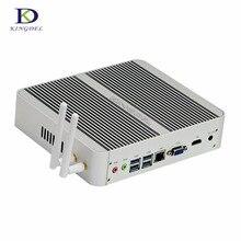 Безвентиляторный HTPC Core i5 6360U 4 К VGA HDMI Неттоп Компьютер Windows 10 mini pc с 300 м, wifi, 8 * usb 16 г ddr4 озу 512 г ssd max 3.1 ГГц