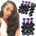 Cheap 7A Peruvian Virgin Hair Body Wave With Closure Human Hair 3Bundles With Lace Closure Unprocessed Human Hair With Bundles