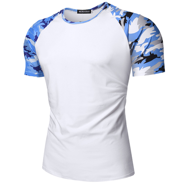 8cdb124a Raglan Sleeve Baseball T Shirt Men 2018 Summer Brand New Camouflage Camo  Tee Shirt Homme Streetwear Mens T-shirts Male Top Tees