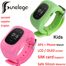 Funelego Q50 Baby Watch For Kids GPS Tracker For Children Wearable LCD Screen With SIM Card Slot Phone Smart Watches