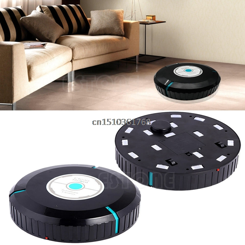 Black Microfiber Mop Dust Cleaning Household Robotic Smart Auto Robot Cleaner #Y05# #C05# 1pcs euro pro shark steam mop replacement microfiber pads s3250 3250 s3202 3202 s3101 3101