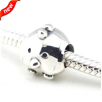 100 925 Sterling Silver Jewelry Chicken Silver Charm European Beads For Jewelry Making DIY Fits Bracelet