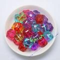 18 MM 130 Unids/lote Mix Colors Gumball Bubblegum Granos Claros de Acrílico Perlas Perlas de Cubo de Hielo
