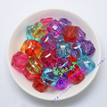 18MM 130Pcs/Lot Mix Colors Gumball Bubblegum Acrylic Clear Beads Cube Beads Ice Beads