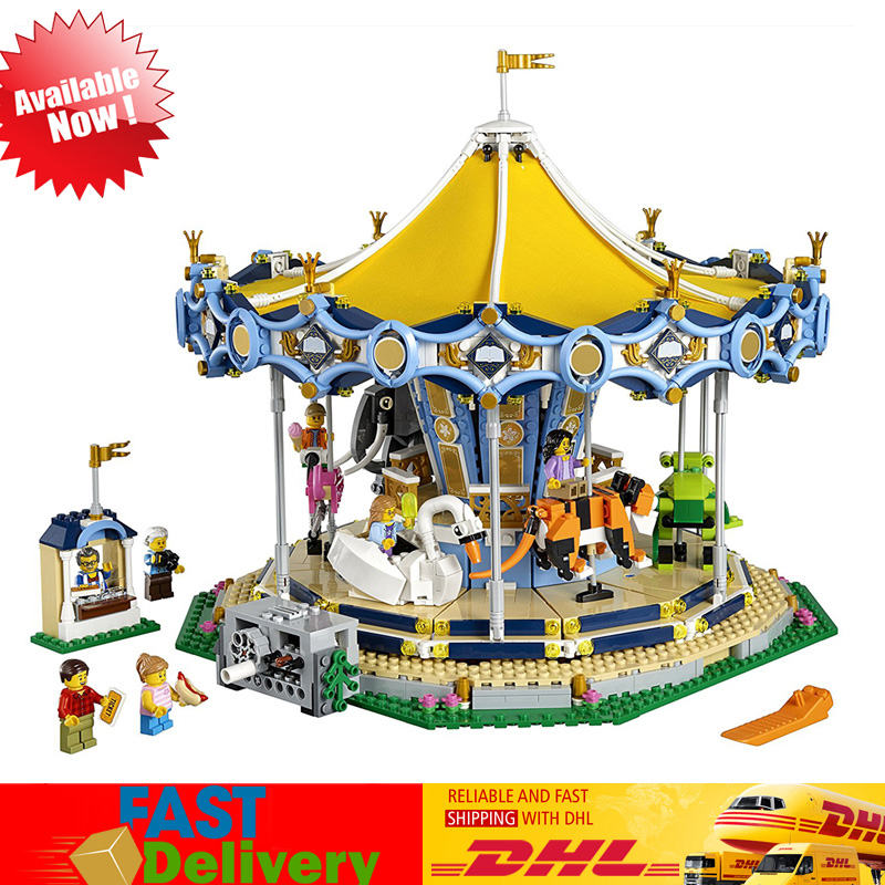 Lepin 15036 2705Pcs The Carousel Set Building Model Blocks Bricks Children Toys Christmas Gifts Compatible Legoings 10257 lepin 15036 genuine street series the new carousel diy set model building kits blocks bricks children toy hobbies christmas gift