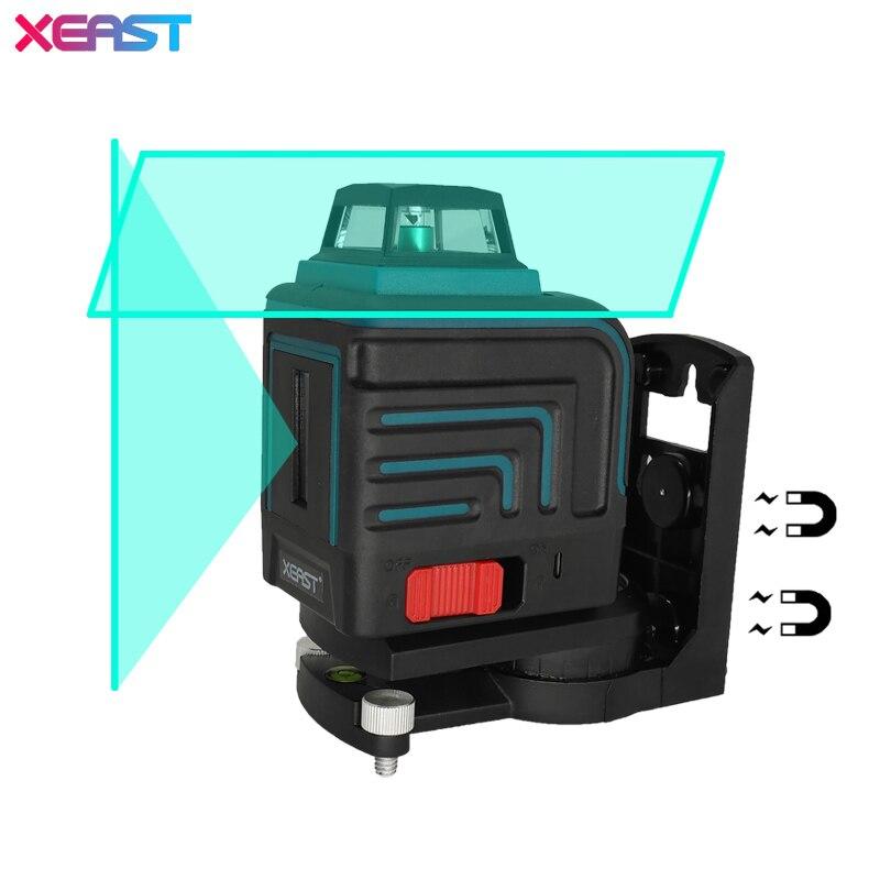 XEAST LD 5 Lignes 3D Vert niveau laser Auto-Nivellement 360 Horizontal Et Vertical Croix vert Faisceau Laser Avec Tilt et le Mode En Plein Air