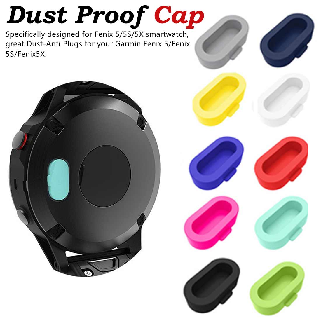 Dust Proof Cap For Garmin Fenix 5/5X/5S Plus Wristband Port Protector Resistant And Anti-dust Plugs New Fashion l1015#2