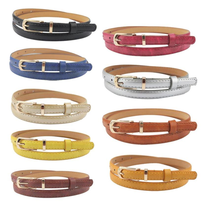 Very font b Elegant b font Fashion Women Belt The Classic Style Candy Color Leather Waistband