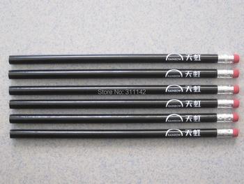 Promotional Buy Write Pencil black pencil with eraser Round Pencil