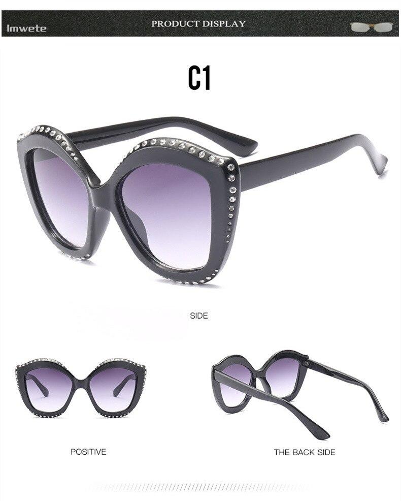c580db1ead Imwete de lujo de ojo de gato gafas de sol mujer marca de moda ...