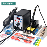 YIHUA 8786D Soldering Station Digital Display Soldering Iron Hot Air Gun BGA Soldering Rework Station Welding Soldering Supplies