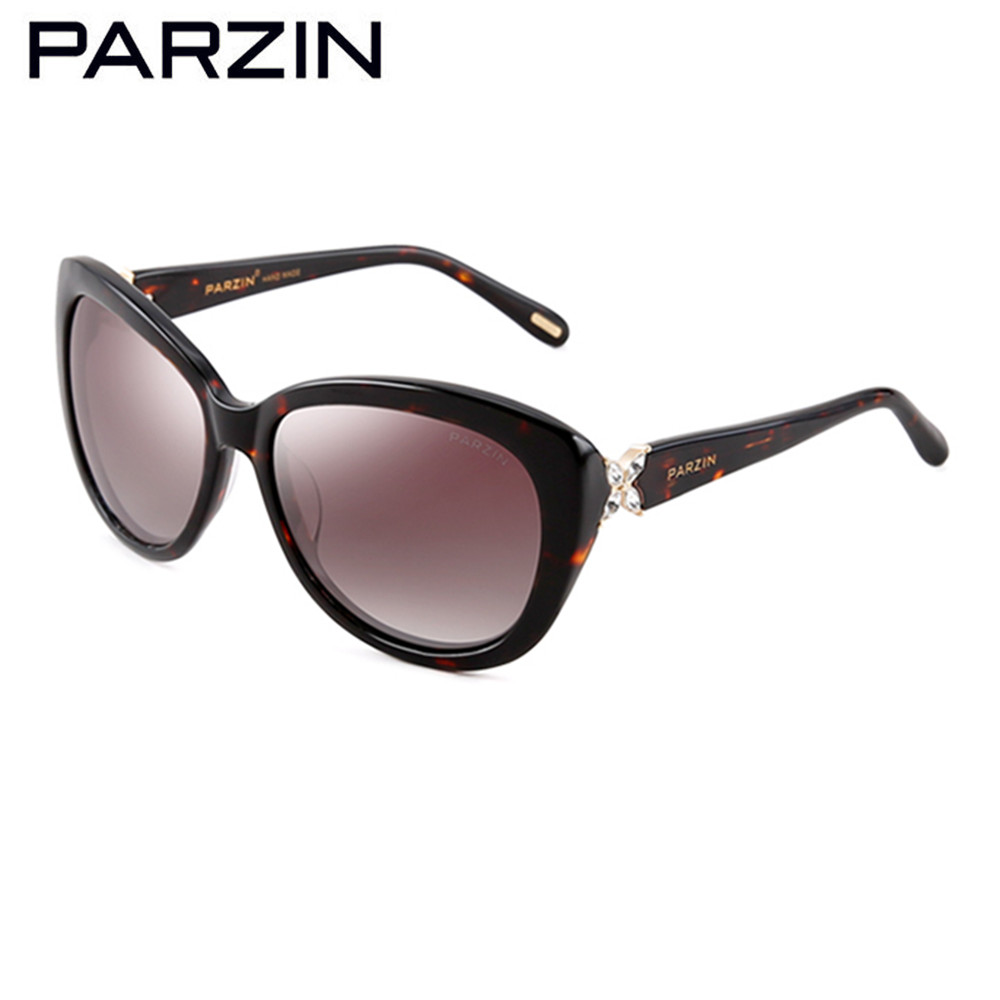 PARZIN Brand Real Polarized Glasses Cat Eye Women's Sunglasses For Driving Big Frame High Quality Sunglasses With Packing 9612