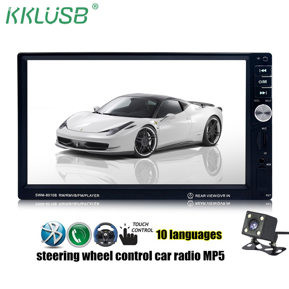 Autoradio 2 Din Bluetooth Stereo 7'' inch LCD Touch Screen mirror link Car Radio Player Bluetooth Car Audio Rear View Camera