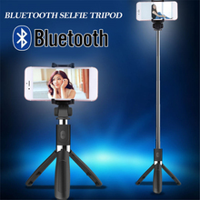 Gizcam Durable 3 in 1 Handheld Tripod Selfie Bluetooth Extendable Selfie Stick with Remote Control for iPhone Huawei Xiaomi