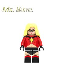 Single sale Super heroes Ms.Marvel Dolls Legoing Mini Building Blocks Education Action Figures Toys for Children Brick Marvel(China)