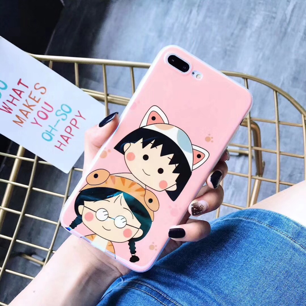 cut baby cell phone case for iphone X soft cover case for iphone 8plus super interesting yellow case young people mobile case