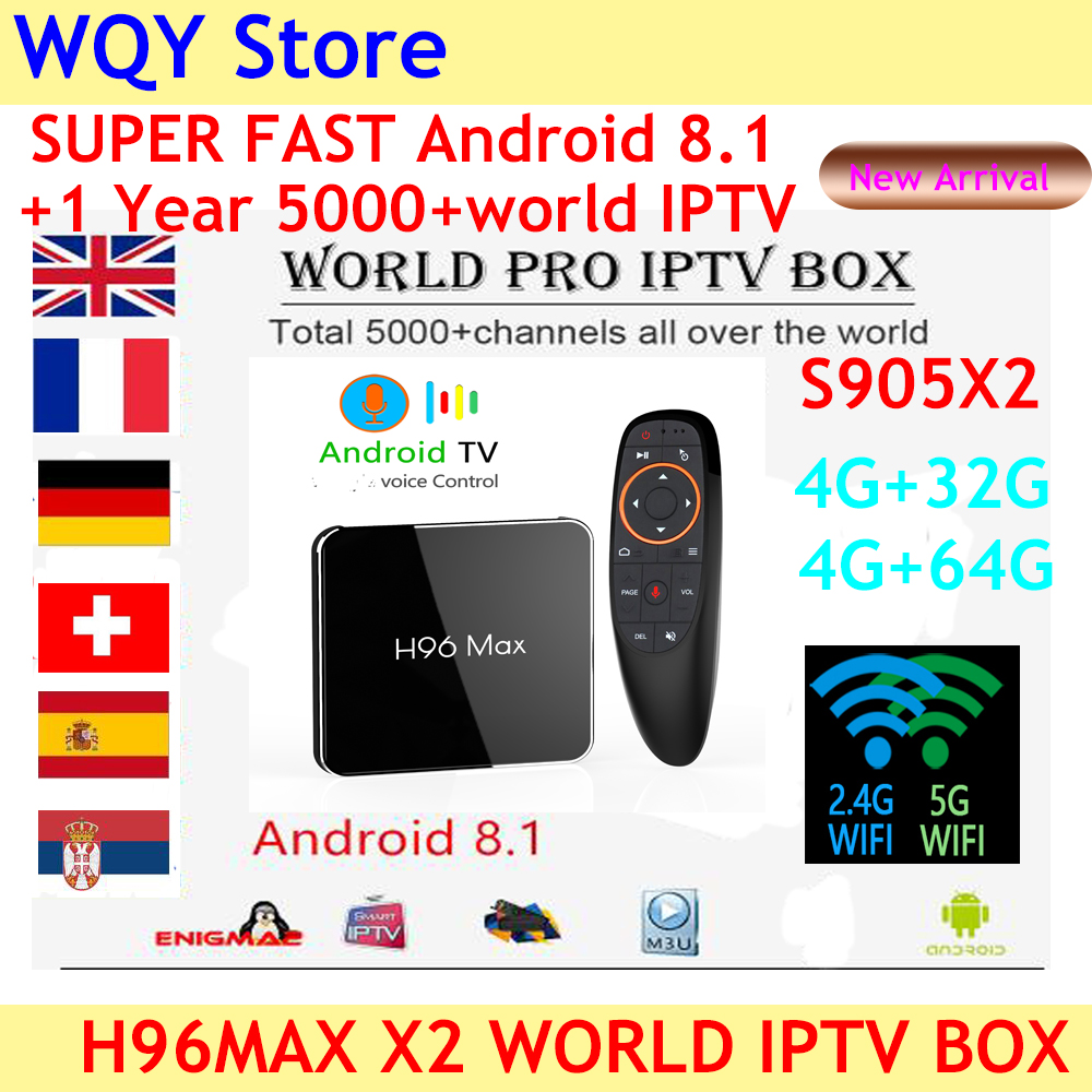 2019 Popular H96 MAX X2 Android 8 1 4K H 265 BT smart TV Box voice