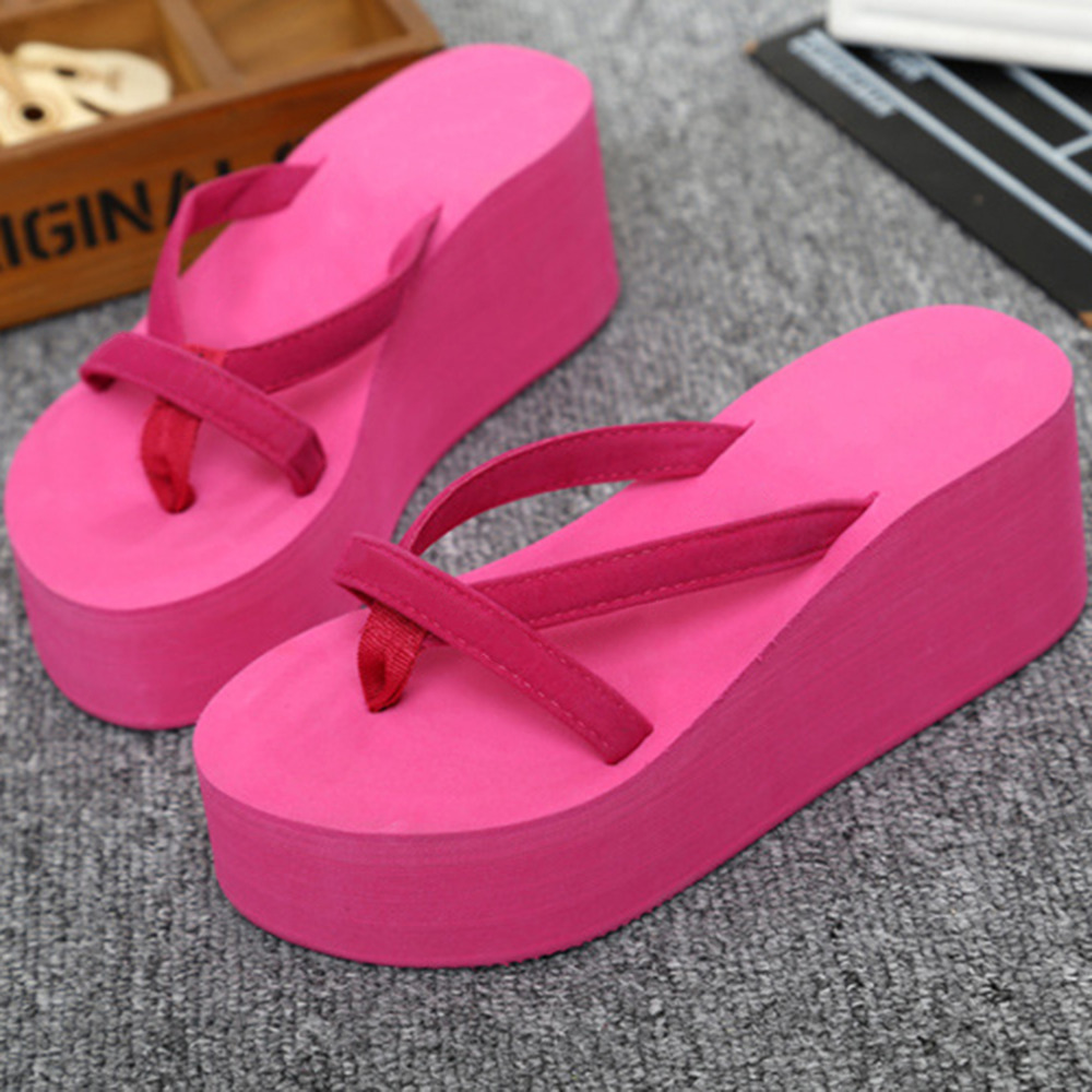 Women sandals 2017 New Summer Shoes Platform Slippers wedges flip flops lady's slippers Shoes Woman beach shoes casual wedges sandals 2017 summer beach women shoes platform flip flops print sandal comfort creepers shoes woman