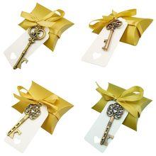 Bottle-Opener Wedding-Souvenirs-Favors Paper-Tags Candy-Bag Party-Supplies Key Festive