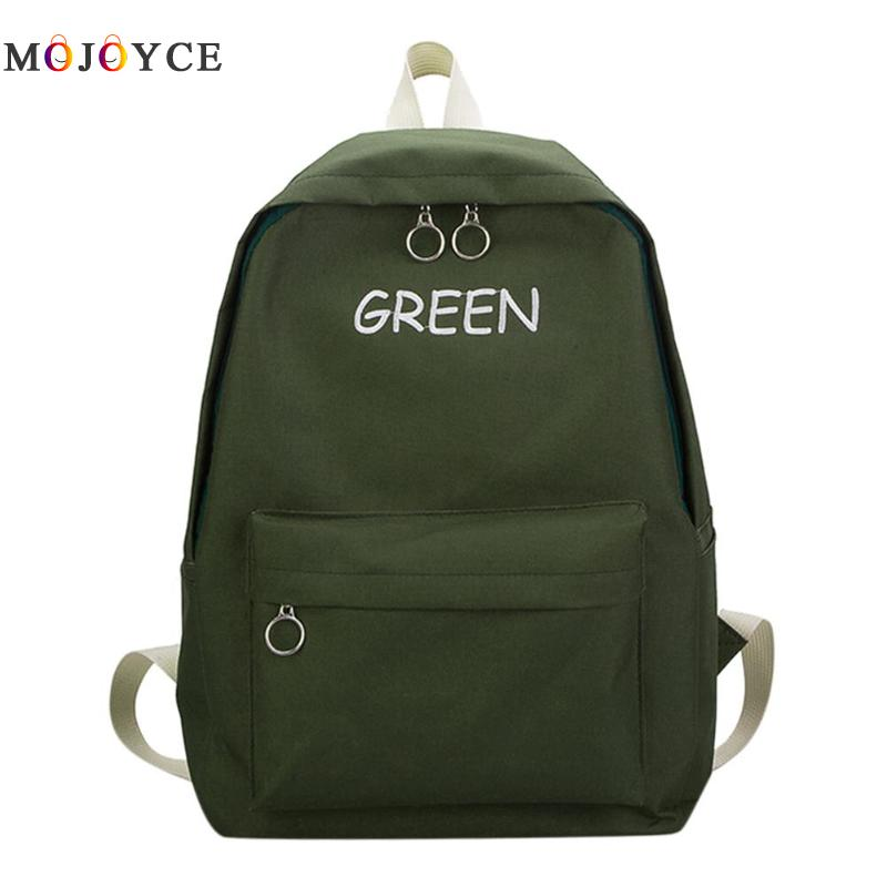 Letters Print Casual Canvas Women Backpack Travel Rucksack Teenager Girl Shoulder School Backpack Mochila Feminina fashion women men s canvas backpacks college preppy teenager girl boy student school bag backpack casual travel mochila feminina