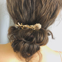 2019 New Bohemian Vintage Gold Color Starfish Conch Hair Clips For Women Fashion Accessories Creative Shell Hairgrips