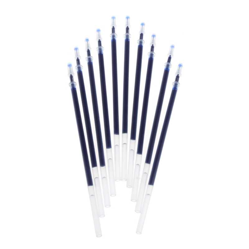Nuovo 10 Pcs 0.38 millimetri Gel Ink Penna A Sfera Refill Nero Blu Fornitura di Cancelleria Feb7
