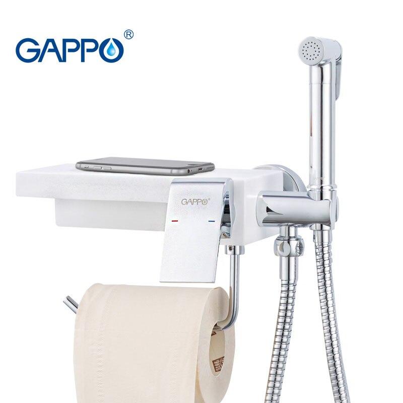 GAPPO bidet kranen wc Bidet douche sproeier hygiënische douche anale plug water kranen badkamer papier houder plank houders G7296 - 6