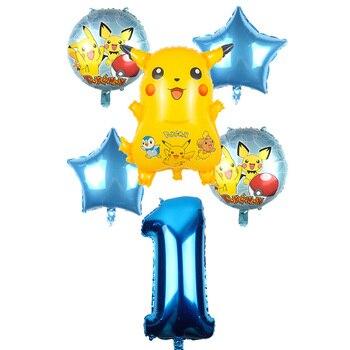 Ensemble 6 Ballons Anniversaire Pikachu Pokemon Go
