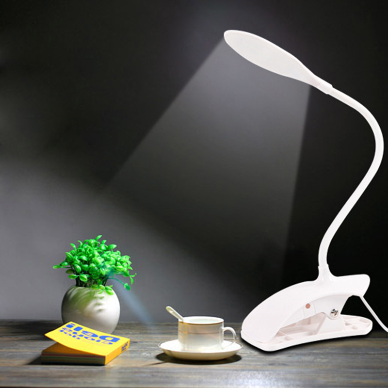 LED Reading Eye Protection Desk Lamp Brightness USB Rechargeable LED Desk Table Lamp Light with Clip Touch Switch dc 12v led display digital delay timer control switch module plc